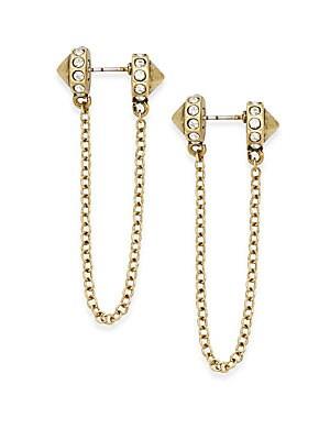 Chain Drop Earrings/Goldtone