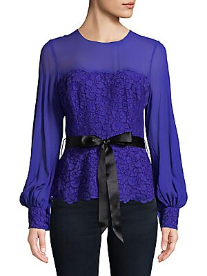 Embroidered Floral Lace Top