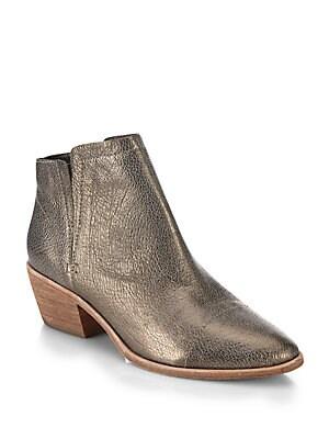 Jodi Metallic Leather Ankle Boots