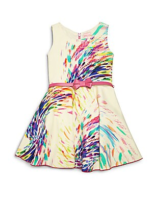 Girl's Firework Print Dress