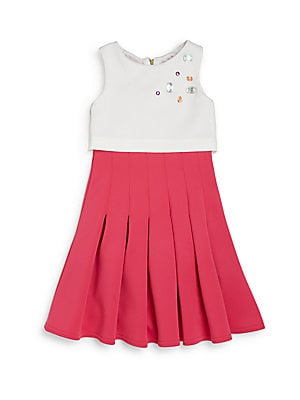Girl's Jeweled Overlay Dress