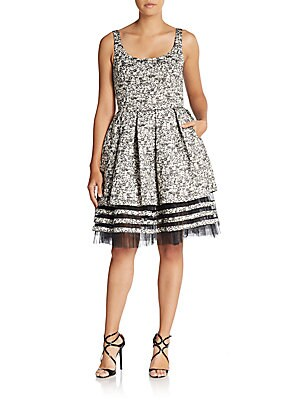 Belle Tulle-Trim Dress