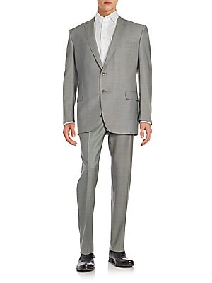 Two-Piece Pure Wool Textured Suit