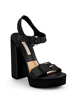 Janey Runway Leather Platform Sandals