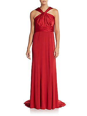 Ruched Empire Gown