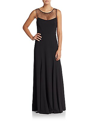 Black A-Line Gown