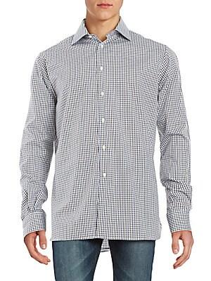 Regular-Fit Check Cotton Sportshirt