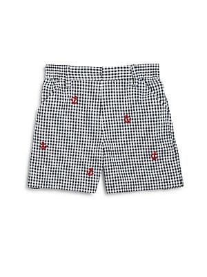 Baby's Checked Seersucker Shorts
