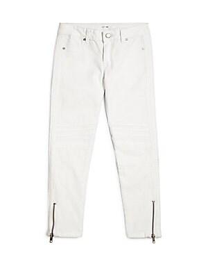 Little Girl's & Girl's Ankle-Zip Jeans
