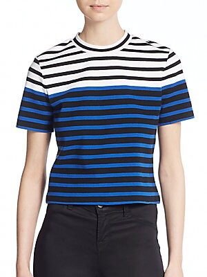 Engineer Striped Crop Tee