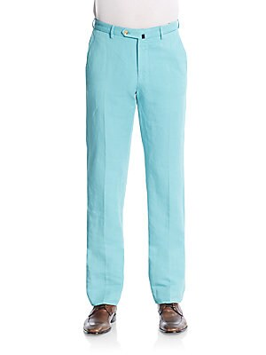 Ben Linen & Cotton Straight Leg Trousers