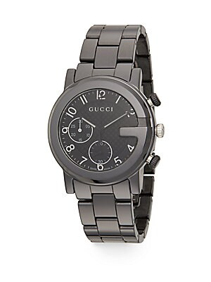 gucci male 188971 gchrono collection ceramic stainless steel watch