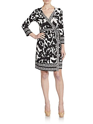 Tallulah Silk Jersey Wrap Dress