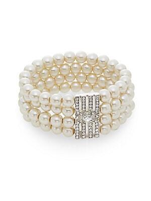 Pearl Embellished Four-Row Bracelet