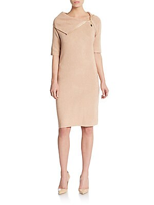 Lurex-Detailed Sweater Dress
