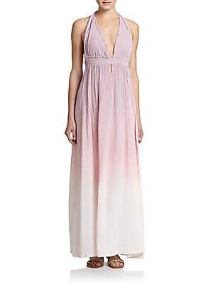 Ombr? Cotton Maxi Dress