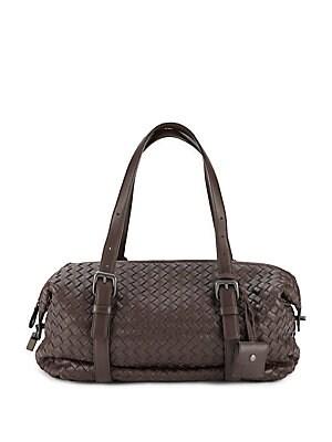 Woven Leather Handbag