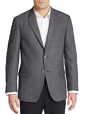 Regular-Fit Hopsack Wool Sportcoat
