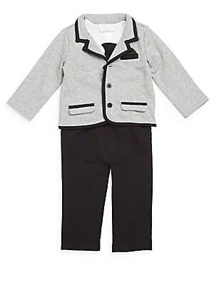 Baby's Bodysuit, Sportcoat & Pants Set