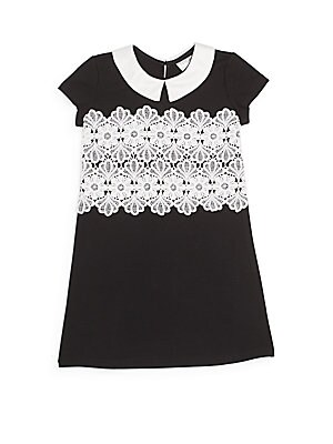 Little Girl's Lace-Trim Shift Dress