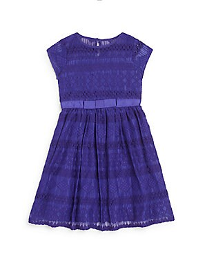 Little Girl's Embroidered Lace Fit-&-Flare Dress