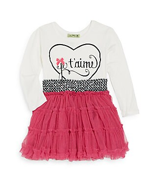 Toddler's Je T'Aime Tutu Dress