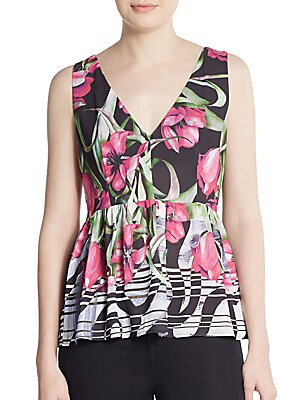 Dancing Tulips Peplum Top