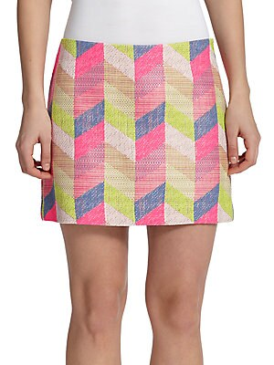 Chevron Mini Skirt