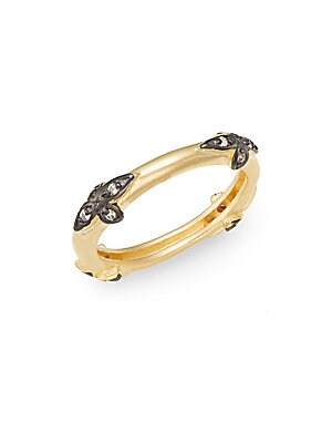 Four Leaf 14K Gold Vermeil Ring