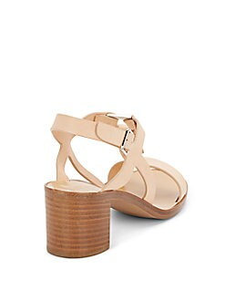 Peria Stacked Leather Sandals
