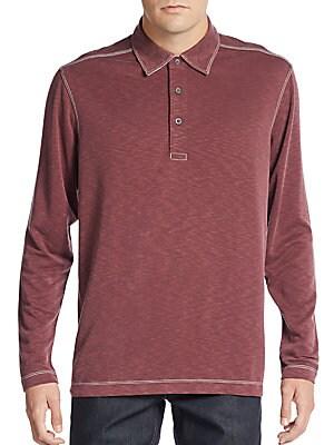 Knit Long-Sleeve Polo Shirt