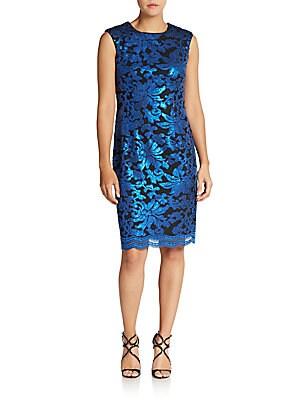 Sequin Jacquard Sheath Dress