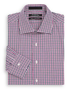 Slim-Fit Gingham Cotton Dress Shirt & Gift Box