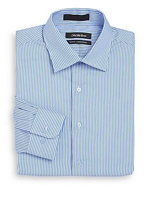 Slim-Fit Stripe Dress Shirt