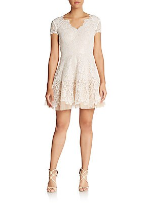 Caelyn Lace Fit-And-Flare Dress