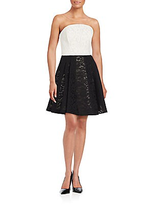 Techno Lace Fit-And-Flare Dress