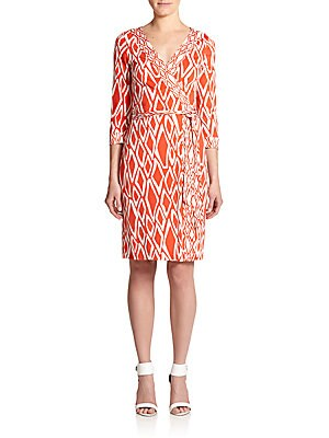 Banded Julian Silk Jersey Wrap Dress