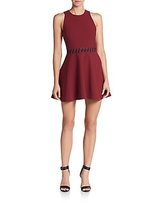 Carter Lace-Up Fit-And-Flare Dress