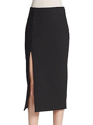 Kennedi Lace-Up Midi Skirt