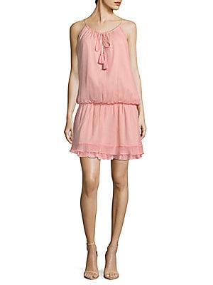 Kenji Silk Blouson Dress