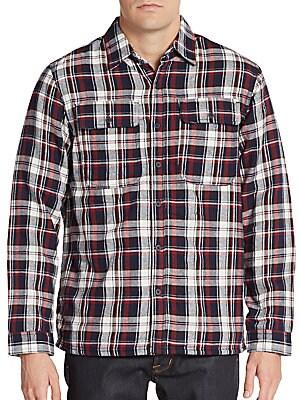Regular-Fit Plaid Check Cotton Sportshirt