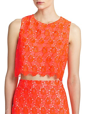 Adriana Lace Cropped Shell