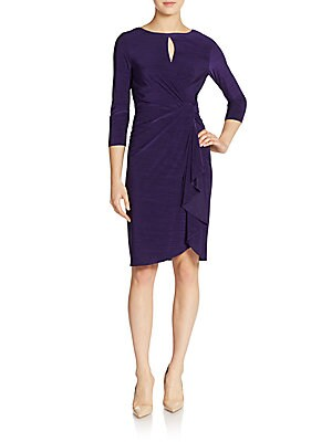 Colet Draped Wrap Dress