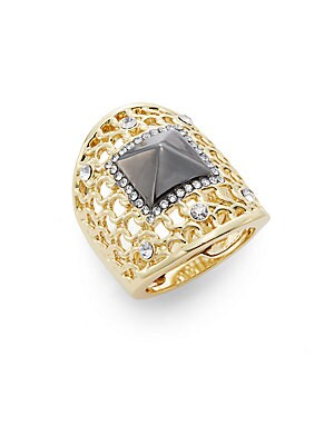 Glitz Woven Knuckle Ring/Two-Tone