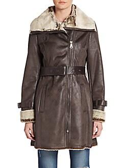 Braveheart Faux Fur-Trimmed Coat