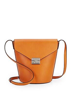 Flap Bucket Bag