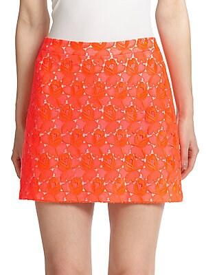 Merrill Floral-Lace Mini Skirt