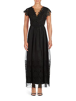 Embroidarded Lace Trim Dress