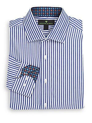 Regular-Fit Bengal Striped Dress Shirt