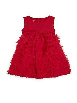 Baby's Rose Appliqué A-Line Dress